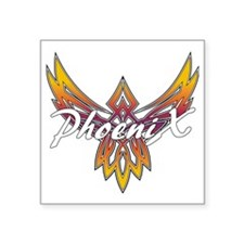 "Phoenix Logo Square Sticker 3"" x 3"""