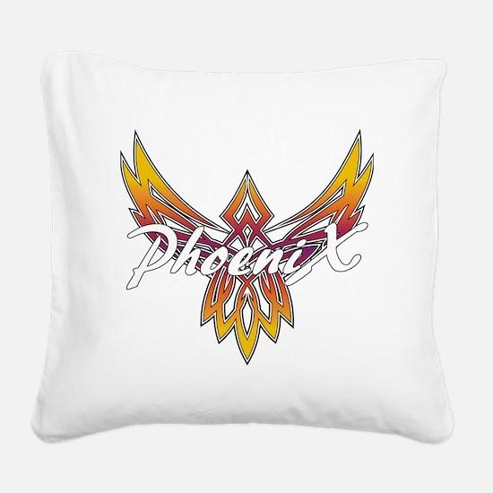 Phoenix Logo Square Canvas Pillow