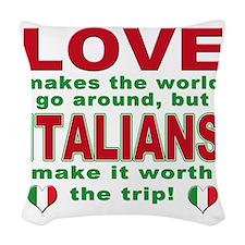 Italian pride Woven Throw Pillow