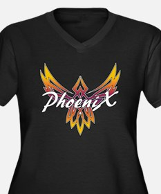 Phoenix Band Women's Plus Size Dark V-Neck T-Shirt