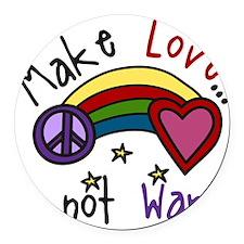 Make Love Round Car Magnet