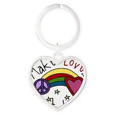 Make Love Heart Keychain