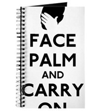 Face Palm And Carry On Journal