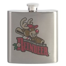 Reindeer Primary Logo Flask