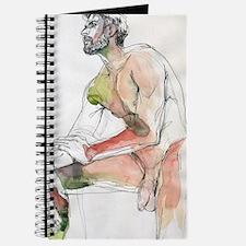 watercolor male figure art  Journal