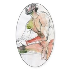 Watercolor male figure Art journal Decal