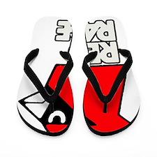 Red Rage Flip Flops