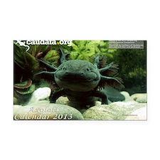 Axolotl Rectangle Car Magnet
