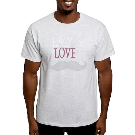 Ladies Love The Moustache Light T-Shirt
