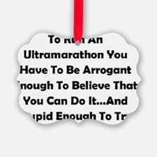 Ultramarathon Saying Ornament