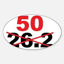Beyond the Marathon - 50 Mile Ultra Sticker (Oval)