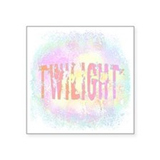 "Twilight Pink Ice Square Sticker 3"" x 3"""