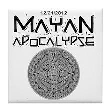 Mayan Apocalypse Calendar Tile Coaster