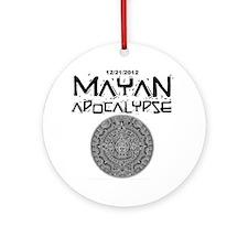 Mayan Apocalypse Calendar Round Ornament