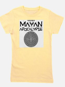 Mayan Apocalypse Calendar Girl's Tee