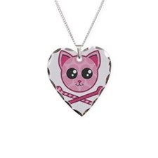 Kawaii Kitty Crossbones Necklace