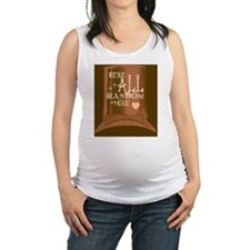 Were All Random Heres logo Maternity Tank Top