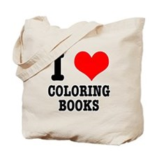 I (Heart) Love Coloring Books Tote Bag