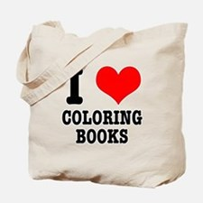 I (Heart) Love Coloring Books Tote Bag