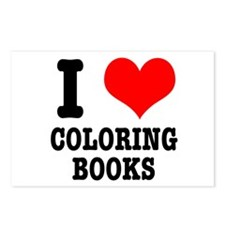 I (Heart) Love Coloring Books Postcards (Package o