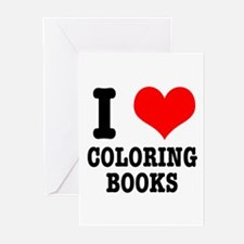 I (Heart) Love Coloring Books Greeting Cards (Pack