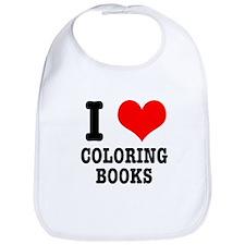 I (Heart) Love Coloring Books Bib