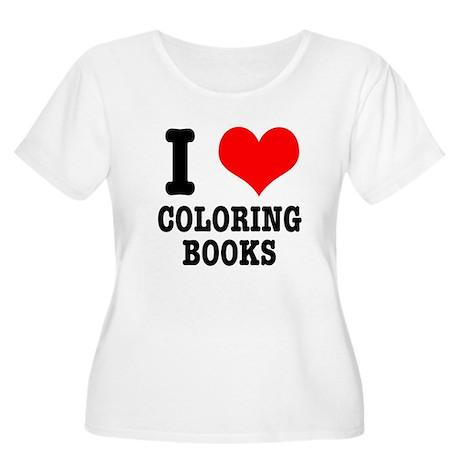 I (Heart) Love Coloring Books Women's Plus Size Sc