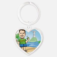 BrazilianGringo.com T-Shirt Heart Keychain