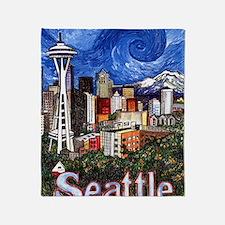 Seattle Skyline Throw Blanket