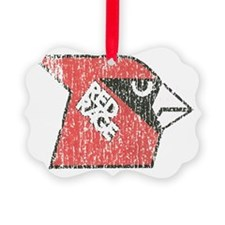 Faded Red Rage Ornament