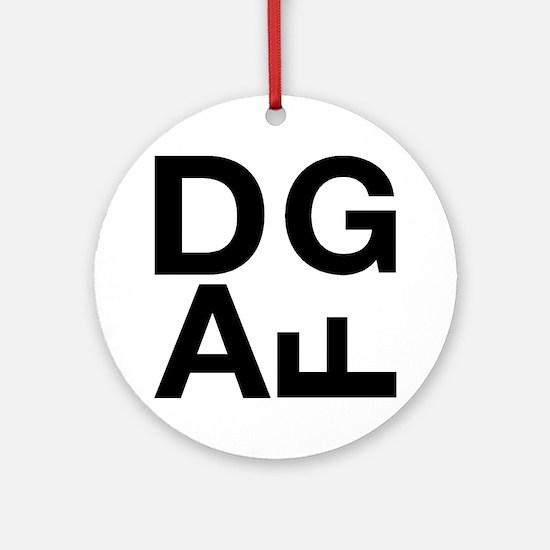 DGAF Black Round Ornament