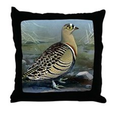 Four Banded Sand Grouse Throw Pillow