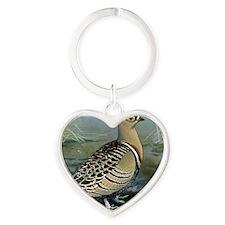 Four Banded Sand Grouse Heart Keychain
