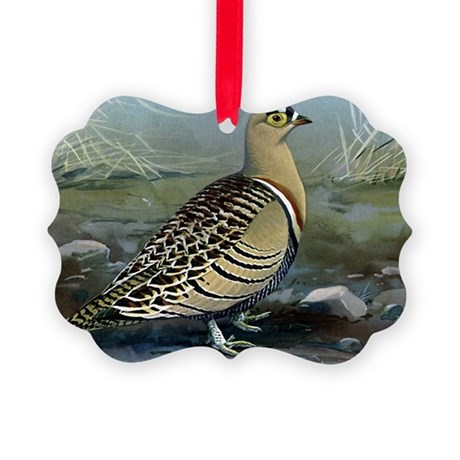 Four Banded Sand Grouse Picture Ornament