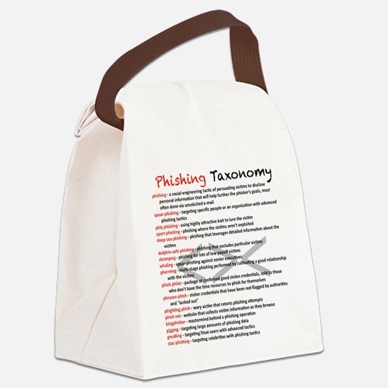 Phishing Taxonomy Canvas Lunch Bag