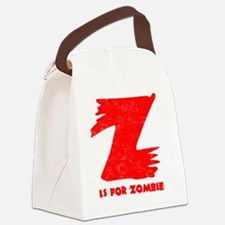 Z is for Zombie Canvas Lunch Bag
