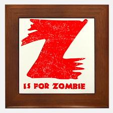 Z is for Zombie Framed Tile
