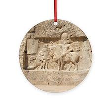 Ancient Persian tomb Round Ornament