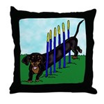 An Agility Dachshund? Throw Pillow