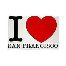 I Love San Francisco Rectangle Magnet
