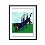An Agility Dachshund? Framed Panel Print