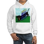 An Agility Dachshund? Hooded Sweatshirt