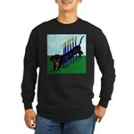 An Agility Dachshund? Long Sleeve Dark T-Shirt
