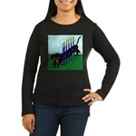 An Agility Dachshund? Women's Long Sleeve Dark T-S