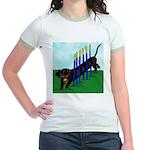 An Agility Dachshund? Jr. Ringer T-Shirt