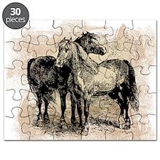 Vintage Horse Love Puzzle