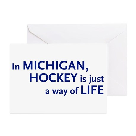 Hockey Michigan Greeting Cards (Pk of 10)