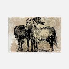 Vintage Horse Love Rectangle Magnet