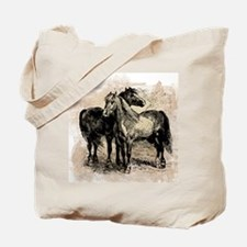 Vintage Horse Love Tote Bag