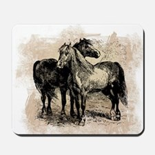 Vintage Horse Love Mousepad